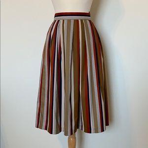 VINTAGE LEVI STRAUSS striped midi skirt